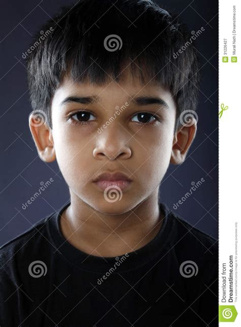 depressed indian  boy royalty  stock photography