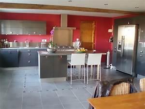 exceptionnel cuisine blanche mur gris 3 indogate With cuisine blanche mur gris