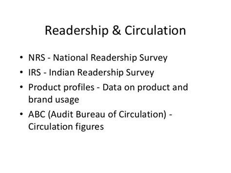 audit bureau of circulations newspapers block i unit ii media selection and measuring its