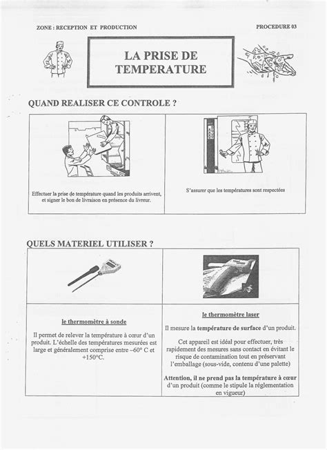 sécurité en cuisine les procédures en hygiène et sécurité en restauration en