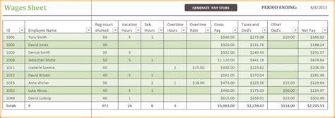 salary sheet template  excel simple salary slip