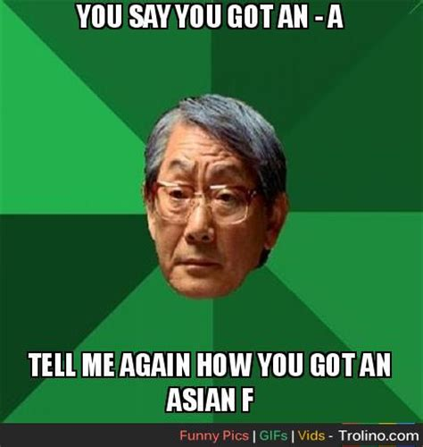 Angry Asian Meme - angry asian dad trolino