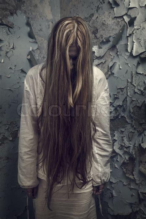 zombie girl  long hair   stock photo colourbox