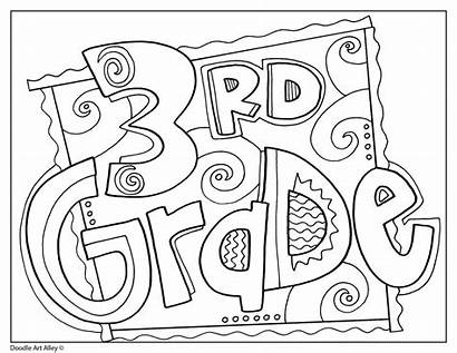 Grade 3rd Worksheets Printable Signs Coloring Pages