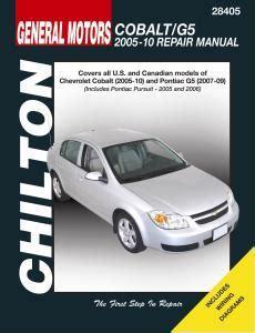 car maintenance manuals 2007 chevrolet cobalt user handbook 2005 2010 chevrolet cobalt 07 09 pontiac g5 05 06 pursuit chilton manual