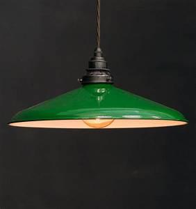 Es curved shade pendant vintage lighting