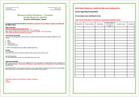 contractor invoice templates word excel