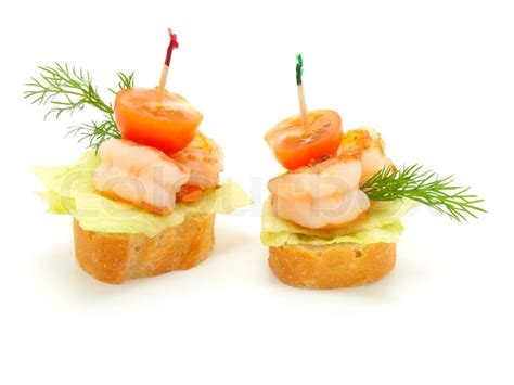 made canape canape made from shrimp stock photo colourbox