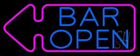 bar open  arrow neon sign bar open neon signs