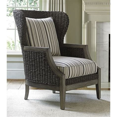 striped accent chair lexington oyster bay seaford wicker accent chair in multi striped 01 1778 11 61