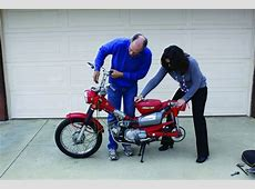 Suitcase Cycle Honda CT90 Building portability into