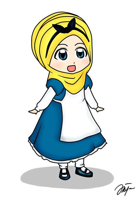 diya hanun chibi doodle disney princess hijab version part