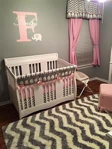 Pink And Grey Elephant Nursery Project Nursery