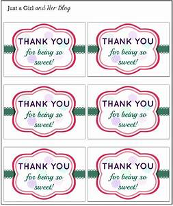a sweet and simple thank you gift with free printable With free printable thank you tags template