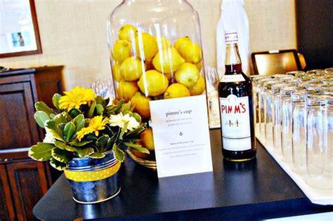 modern ideas  table decoration  lemons