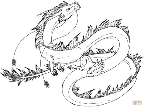 Coloriage Dragon Asiatique De Bande Dessine
