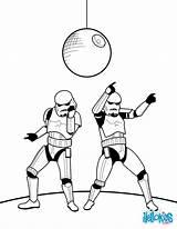 Coloring Stormtroopers Dancing Stormtrooper Wars Printable Hellokids Template sketch template