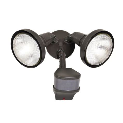 motion light with alarm all pro 270 degree outdoor bronze motion activated sensor