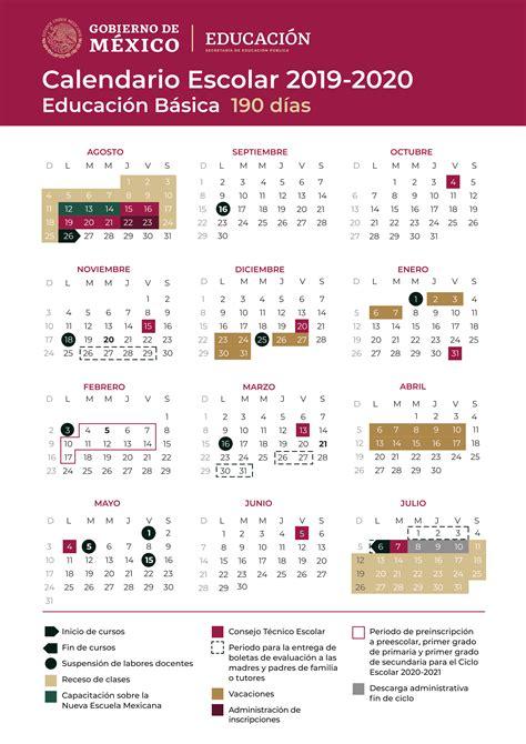 calendario escolar oficial sep