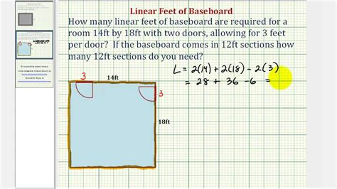 how to measure a linear foot for kitchen cabinets ex perimeter application linear of baseboard 9919