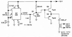 Simple Dc Ac Inverter Wiring Diagram Schematic