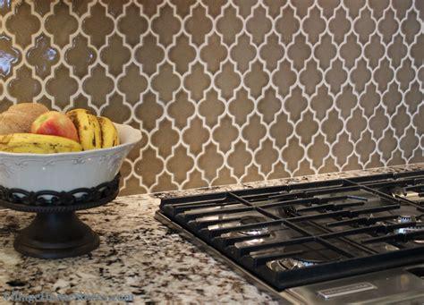 A Beautiful #taupe #quatrefoil Shaped Backsplash #tile. Beadboard Walls. Tahari Rugs. River Glass. Metal Media Cabinet. Thermador Refrigerator Reviews. Stock And Trade Homewood. Sherwin Williams North Star. Modern Bird Bath