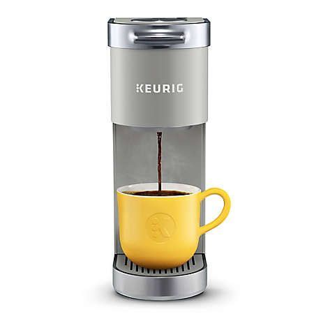 6 k cup pods and a water. Keurig® K-Mini Plus™ Single Serve K-Cup® Pod Coffee Maker in Grey | Single serve coffee makers