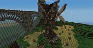 Medieval Windmill + farm Minecraft Project
