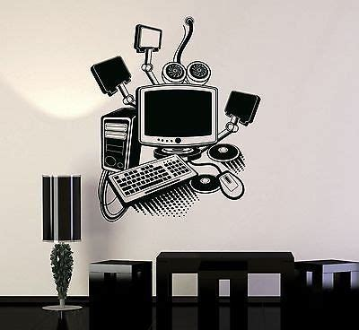 vinyl decal gamer play room pc computer kids art mural