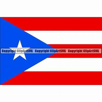 Puerto Svg Rico Flag Country Clipart Square