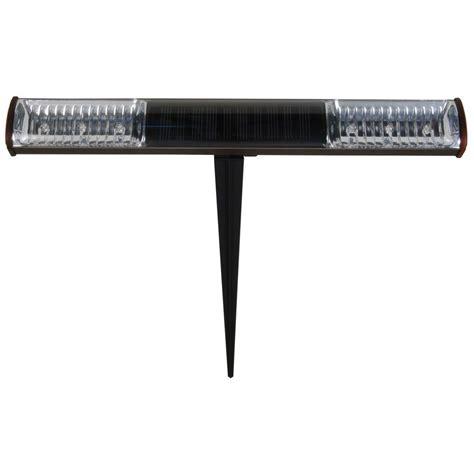 led light bar home depot malibu oil rubbed bronze led solar pathway light bar 8506