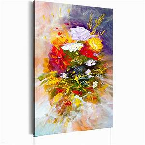 peinture acrylique avec tableaux peinture huile fleurs With affiche chambre bébé avec fleur exotique bouquet