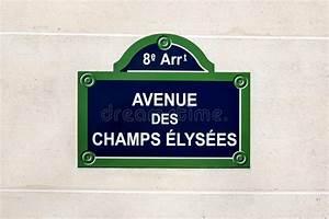 Plaque De Rue Personnalisée Extérieur : plaque de rue d 39 elysees de champions photo stock image du c l bre ville 51527690 ~ Dode.kayakingforconservation.com Idées de Décoration