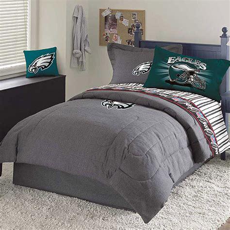 philadelphia eagles nfl team denim full comforter sheet set