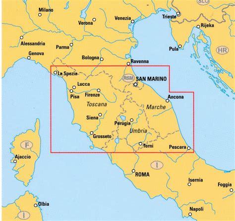 wegenkaart landkaart travel map tuscany umbria toscane umbrie insight guides