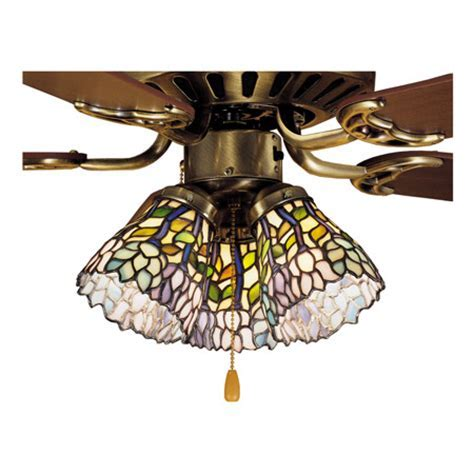 Meyda 27476 Tiffany Wisteria Fan Light Shade