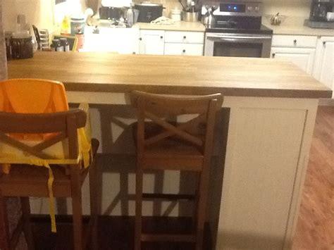 ana white kitchen breakfast bar  built  trash