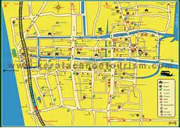 Alleppey Backwater Map...