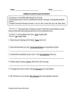 english worksheets images worksheets pronoun