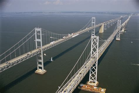 Bay Bridge Boat Show Annapolis Md by Car Plunges Chesapeake Bay Bridge After Collision With