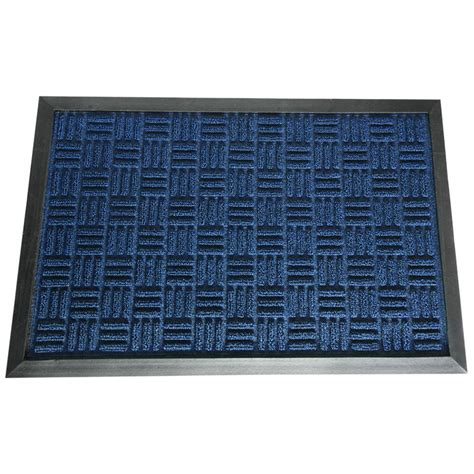 Rubber Backed Carpet Runners Doormats by Rubber Cal Wellington Carpet Doormat Blue 48 In X 72 In