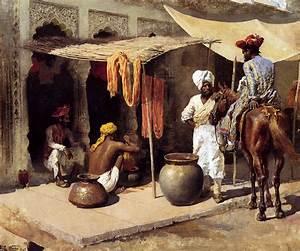 Outside An Indian Dye House, c.1885 - Edwin Lord Weeks ...