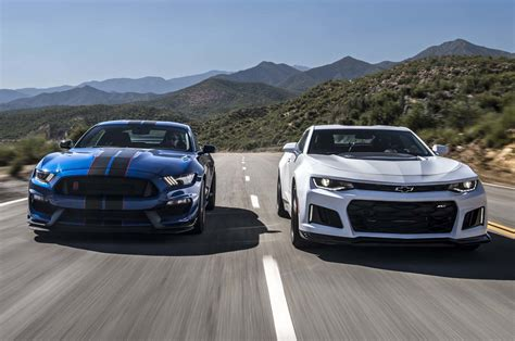 Chevrolet Camaro Vs Ford Mustang by Days After Unveil Of 2018 Mustang Ford Shows Convertible