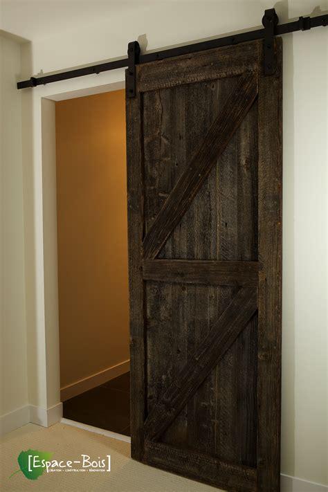 porte en bois porte coulissante en bois de grange avec le magnifique