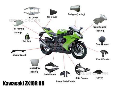 China Carbon Fiber Parts For Kawasaki Zx10r 09 Motorcycle