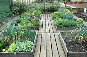 Carre De Jardin Potager : un potager en carr le sens du go t ~ Premium-room.com Idées de Décoration