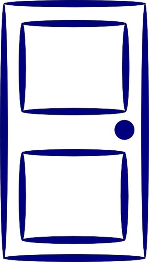 door blue clip art  clkercom vector clip art