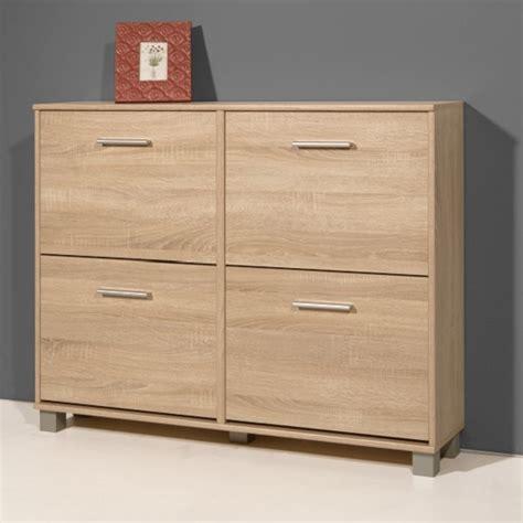 modern shoe cabinet modern shoe storage cabinet in sonoma oak with 4 doors