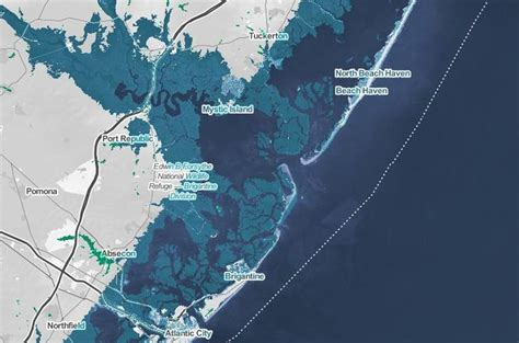 jersey shore 2050 flooding zones risk map climate beach towns haven predicted flooded change global phillyvoice warming avalon submerged thousands