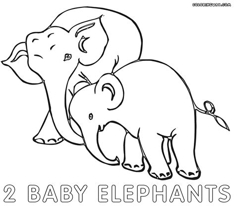 elephant baby coloring pages coloring pages